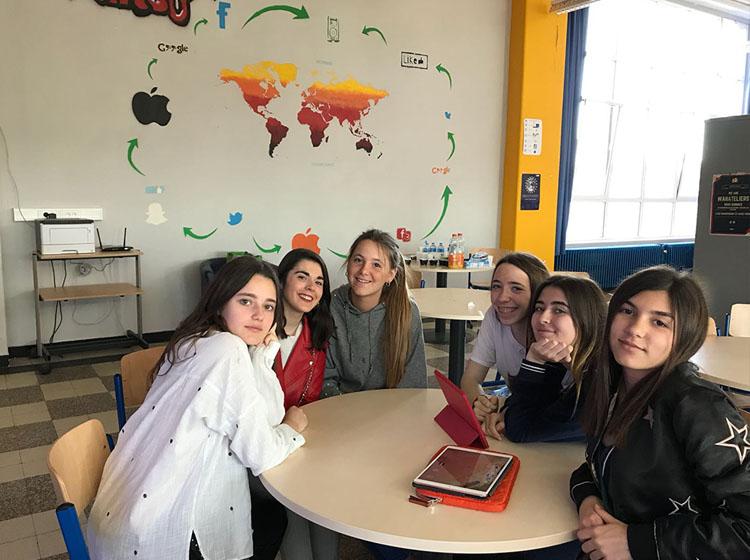 Alumnas de Bachillerato de Zalima viajan a Lieja dentro del programa Erasmus+