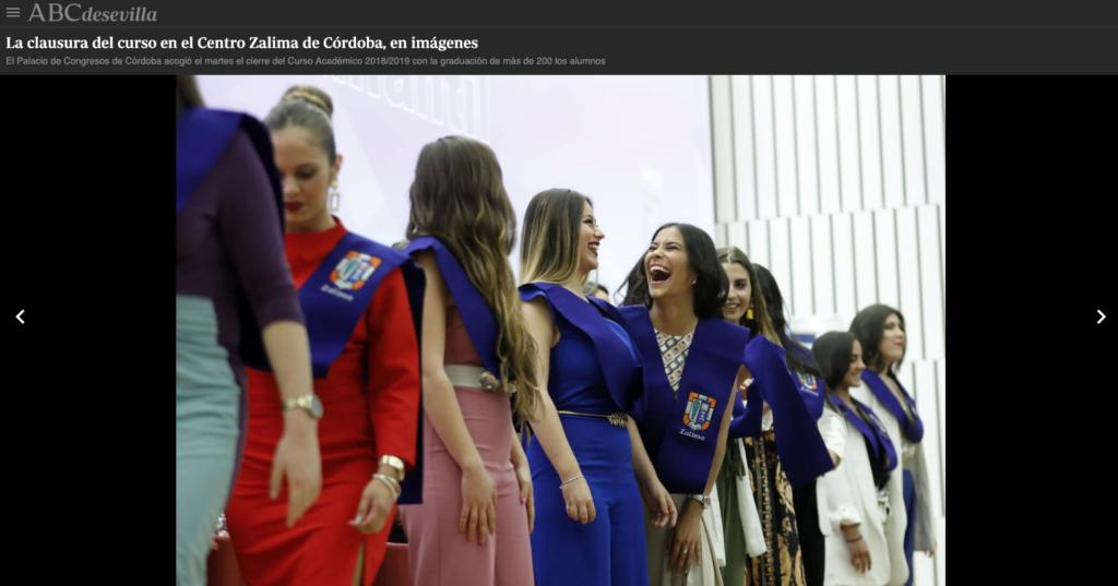 Córdoba se hace eco de la Graduación de Zalima
